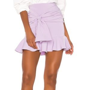 Song of Style Farah Ruffle Tie Front Mini Skirt